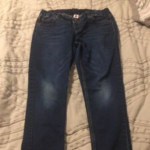 Girl's 14-1/2 Plus blue jeans with elastic waist